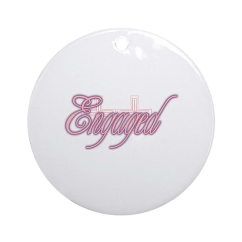 Engaged-Two Crosses Ornament Round Bachelorette party Round Ornament by CafePress