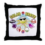 SolarBrate Throw Pillow