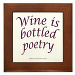 Wine Bottled Poetry Framed Tile