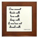Virginia Woolf Quote Framed Tile