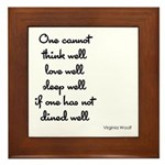 Virginia Woolf Quote Plaque