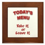 Today's Menu Plaque
