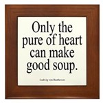 Beethoven Good Soup Plaque