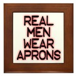 Real Men Framed Tile