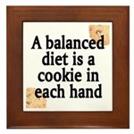 Cookie Balanced Diet Framed Tile