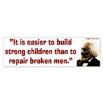 Frederick Douglass on children bumper sticker