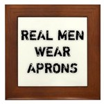Real Men Wear Aprons Plaque