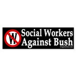 Social Workers Against Bush (sticker)