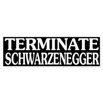 Terminate Schwarzenegger (sticker)