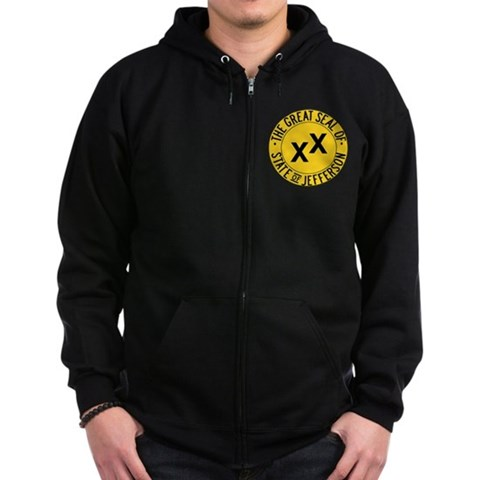 Product Image of State of Jefferson Seal Zip Hoodie (dark)