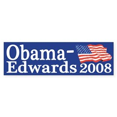 Obama-Edwards Flag bumper sticker
