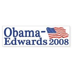 Obama-Edwards 2008 bumper sticker