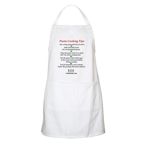- Pasta Cooking Tips Pasta Apron by CafePress