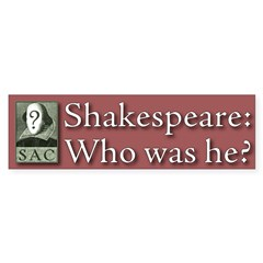 """Who was he?"" Bumper sticker (Crimson)"