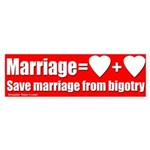 Marriage is Love and Love Bumper Sticker