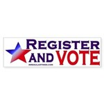 Register and Vote (bumper sticker)