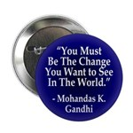 """You Must Be the Change"" Button (10 pack)"