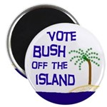 Vote Bush Off the Island Magnet (10 pack)