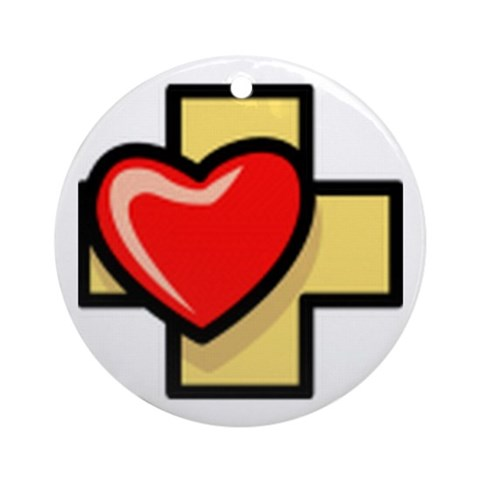 Love the Cross Ornament Round Jesus Round Ornament by CafePress