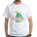 Melting Earth White T-Shirt