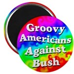 Magnet for Groovy Americans Against Bush