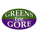 Greens for Gore Oval Bumper Sticker