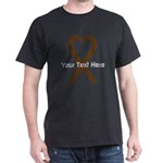 Personalized Brown Ribbon Heart T-Shirt