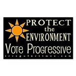 Environment: Vote Progressive Bumper Sticker
