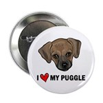 "I Heart My Puggle 2.25"" Button (10 pack)"