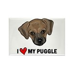 I Heart My Puggle Rectangle Magnet (100 pack)