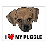 I Heart My Puggle Small Poster