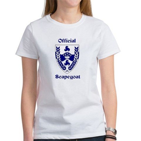 Official Trimarian Royal Scapegoat Womens Tshirt Card $ 16.00