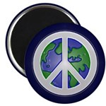 Earth Peace Sign Magnet (100 pack)