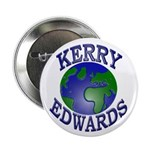 Kerry-Edwards Earth Button (100 pack)