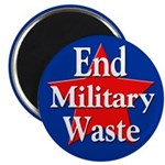 100 End Military Waste Discount Magnets