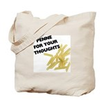 Penne For Your Thoughts Tote Bag