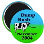 Dump Bush Moo Cow Magnet (10 pack)