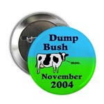 Dump Bush Moo Cow Button (10 pack)