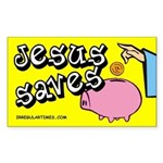 Jesus Saves Piggy Bank Bumper Sticker