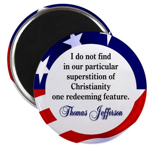 2.25 Jefferson Magnet 100 pack Thomas 2.25 Magnet 100 pack by CafePress