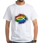 LGBT Christian Fish White T-Shirt