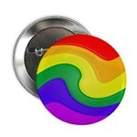 "Twirly Rainbow 2.25"" Button (100 pack)"