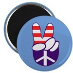 Patriotic Peace Hand Magnet (100 pack)