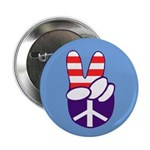 Patriotic Peace Hand Button (10 pack)