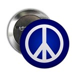 Blue Peace Sign Buttons (100 pack)