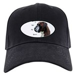 I Love My Boxer Black Cap