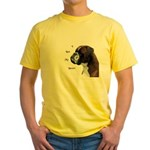 I Love My Boxer Yellow T-Shirt