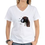 I Love My Boxer Women's V-Neck T-Shirt