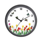 Personalized clocks with custom floral themes, perfect for home or office!  Browse our custom wall, travel and desk clocks.......