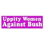 Uppity Women Against Bush (Sticker)